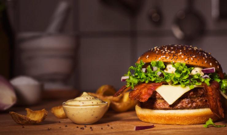 Obertura para una hamburguesa