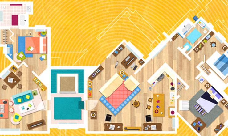 Inmobiliaria recrea los planos de los hogares más famosos de la TV