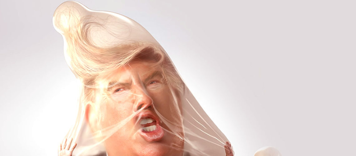 Los anuncios de condones contra Trump y Kim Jong-un